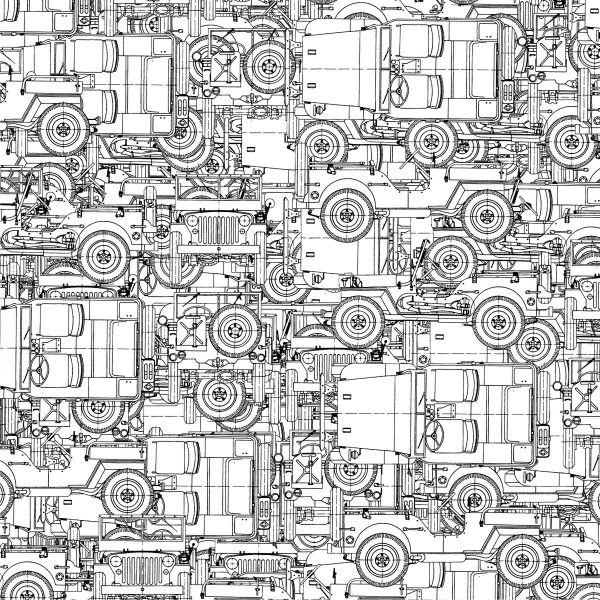 Jeep Willys Drawings 23
