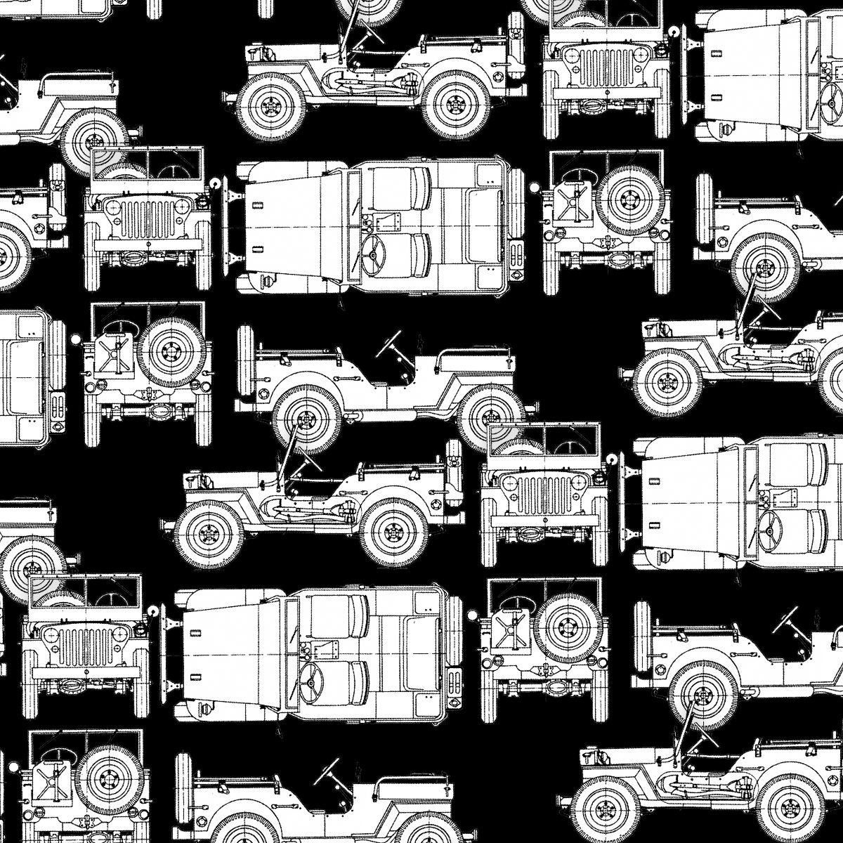 Jeep Willys Drawings 25
