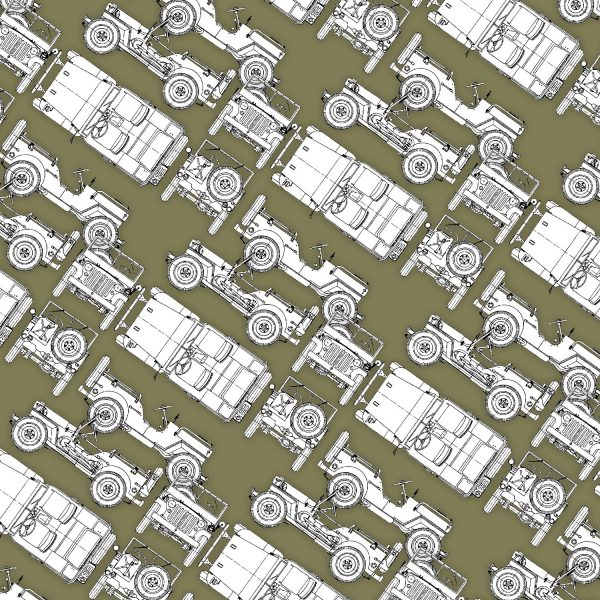 Jeep Willys Drawings 26