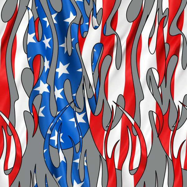 Tribal Flames US Flag 23