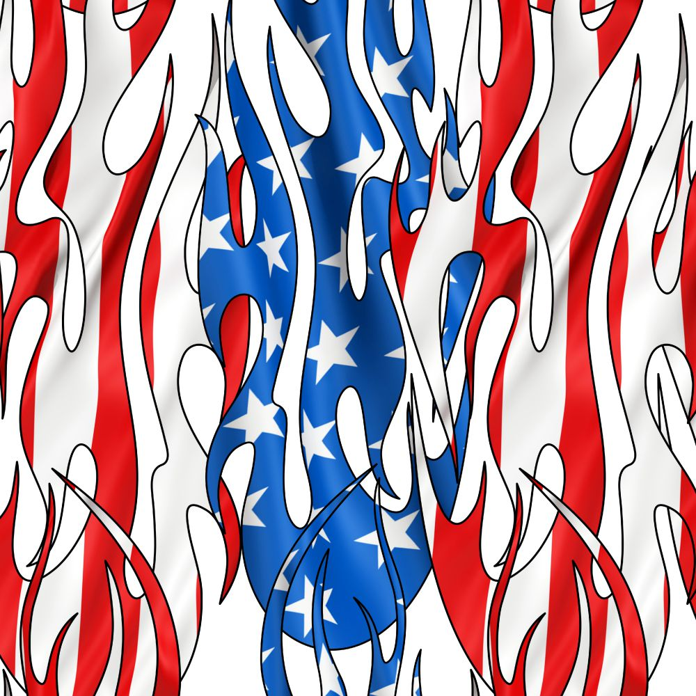 Tribal Flames US Flag 24