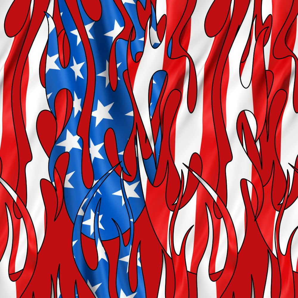 Tribal Flames US Flag 25