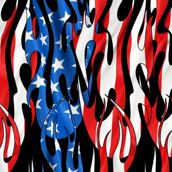 Tribal Flames US Flag 26