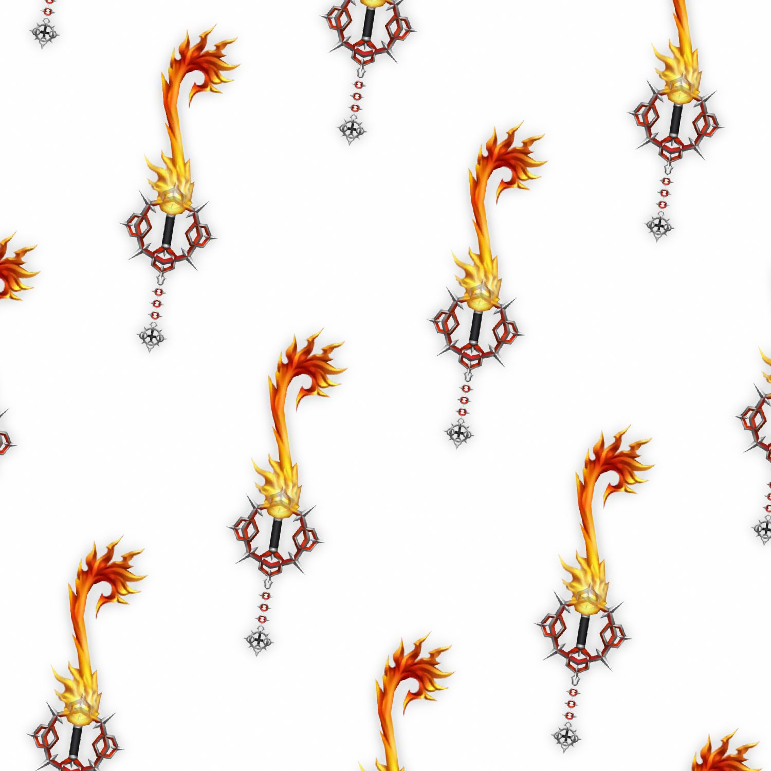 Kingdom Hearts Flame Liberator Keyblade