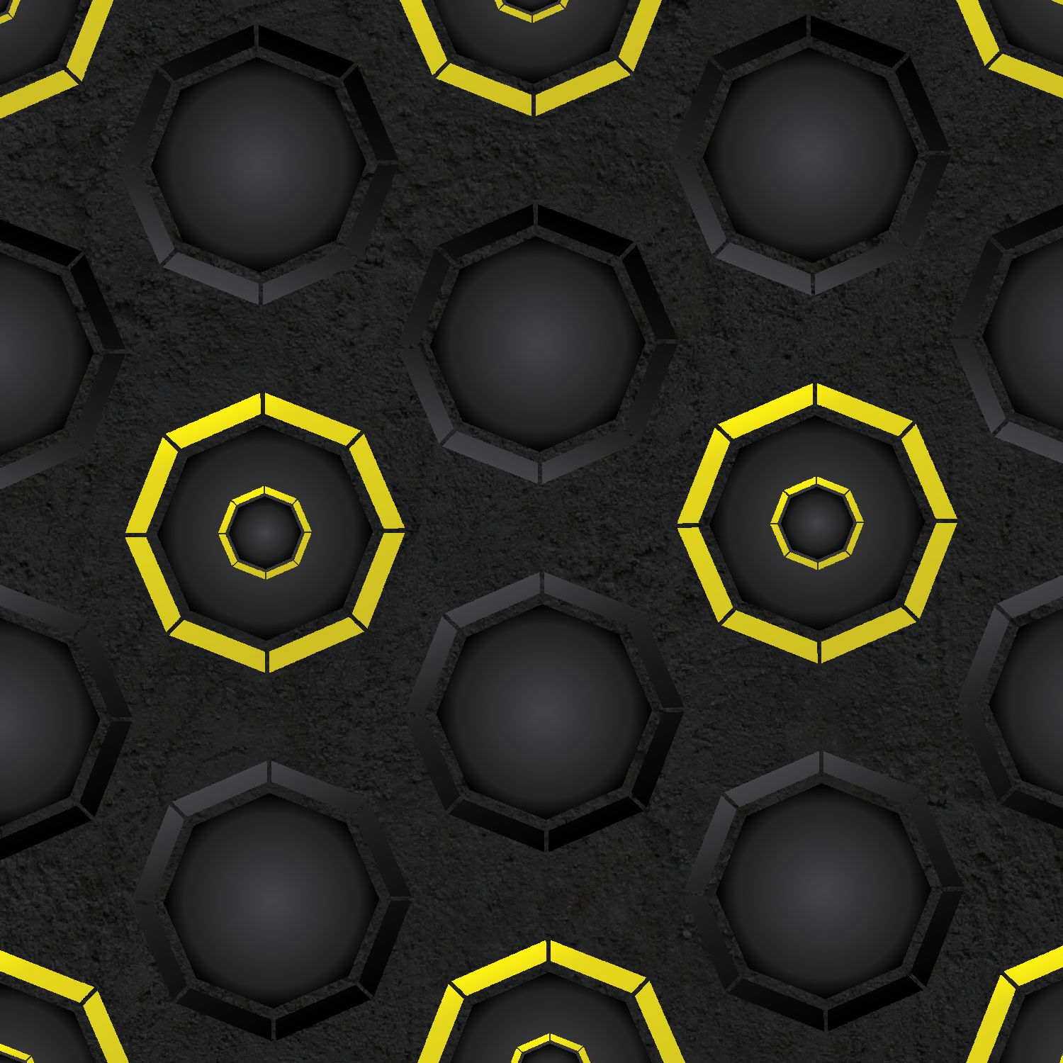 Dark Octagons with Yellow