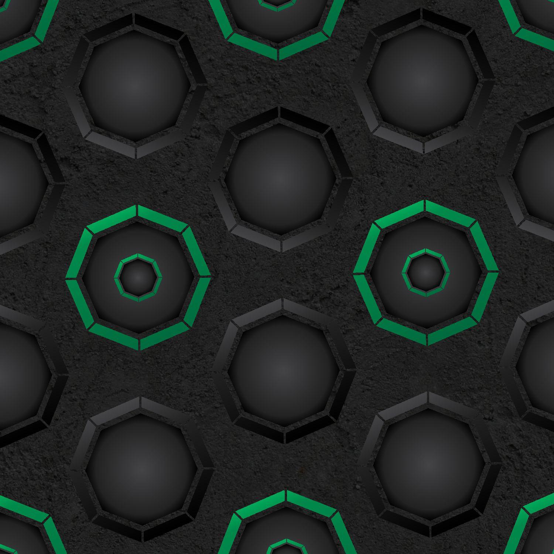 Dark Octagons with Green