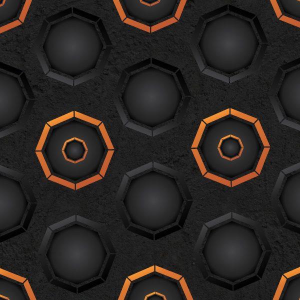 Dark Octogons with Orange