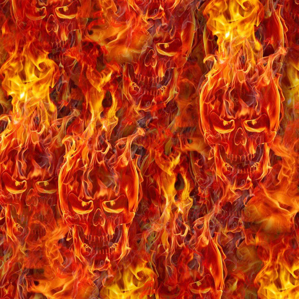 Flaming Skulls 25