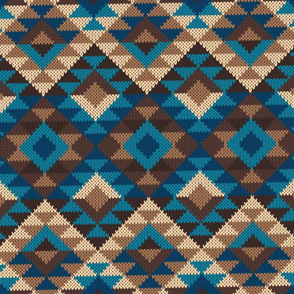 Aztec Knit Blanket