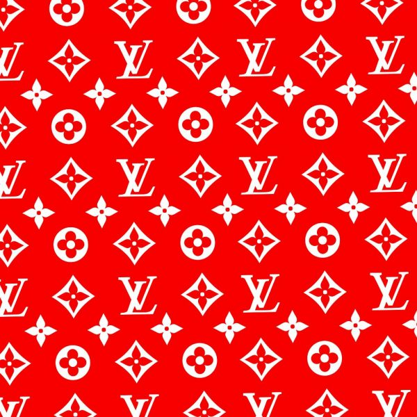 Louis Vuitton Pattern Red