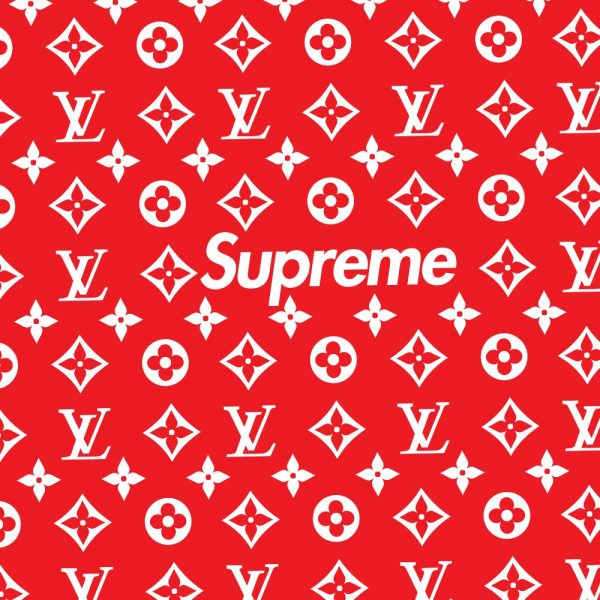 Louis Vuitton Pattern Red Supreme