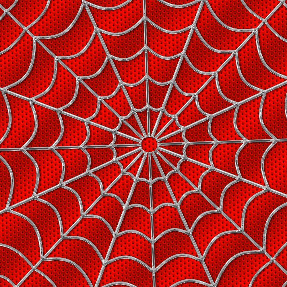 Spiderman Fabric Red