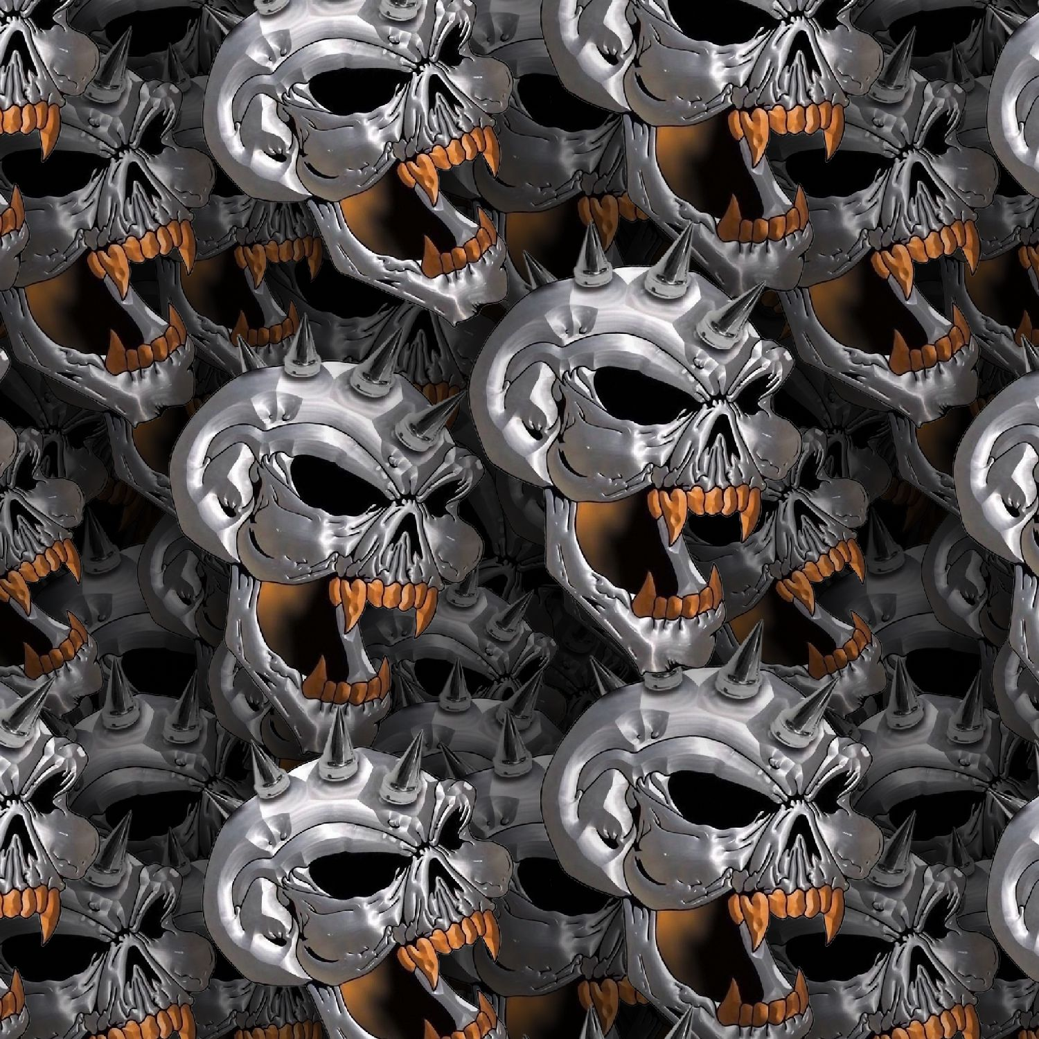 Chrome Spike Skulls