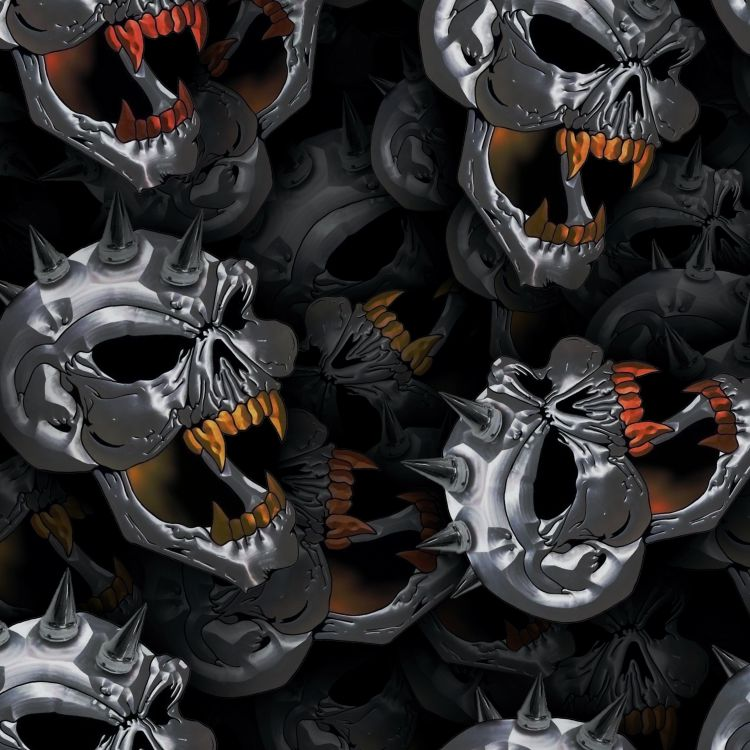 Chrome Spike Skulls 23