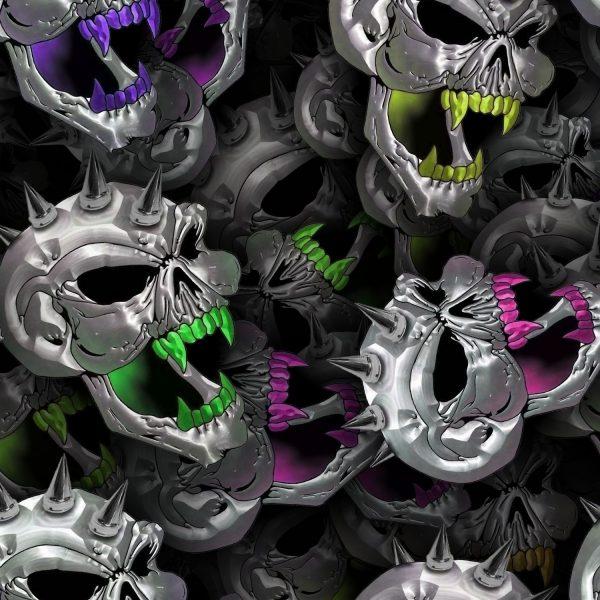 Chrome Spike Skulls 24
