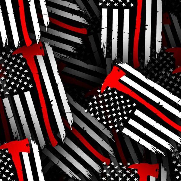 Fireman Grunge Flag 23