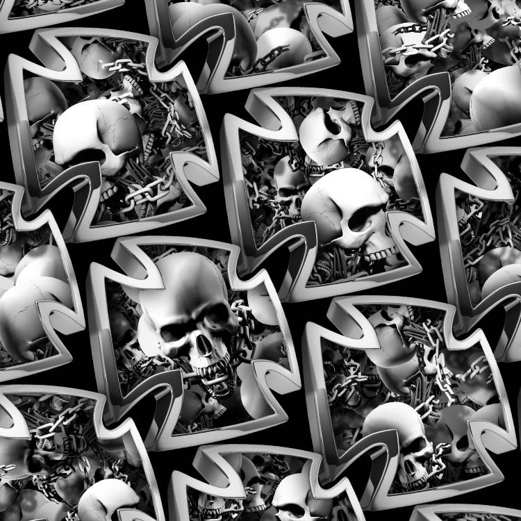 Iron Cross Skulls and Chains