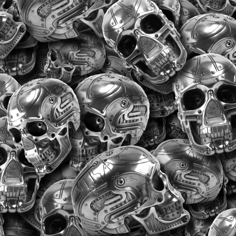 Mechanical Metal Skulls 22