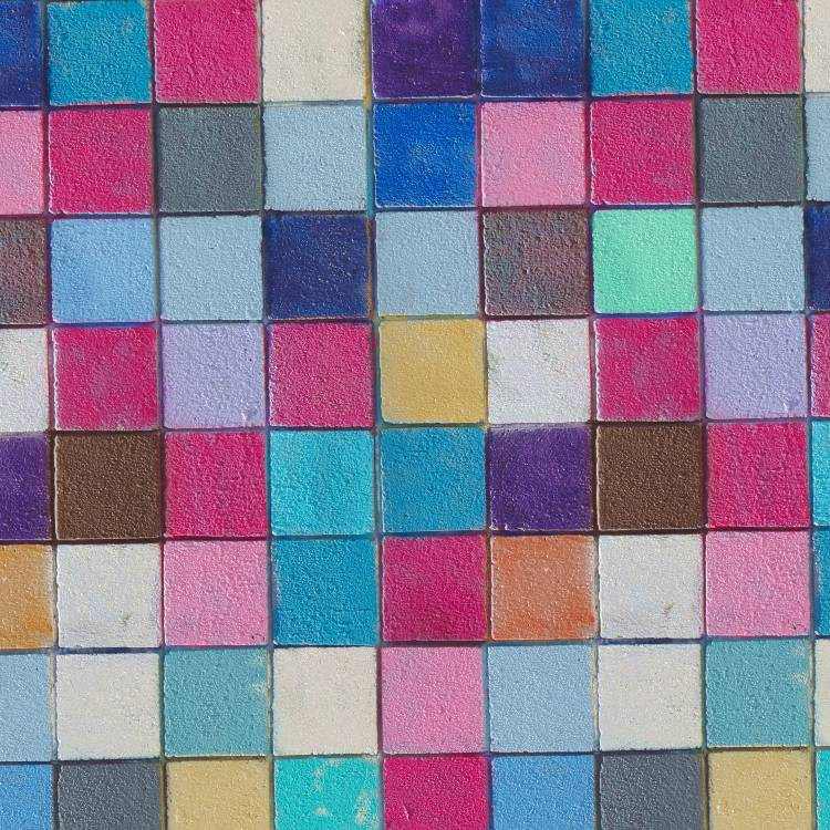 Painted Cement Blocks