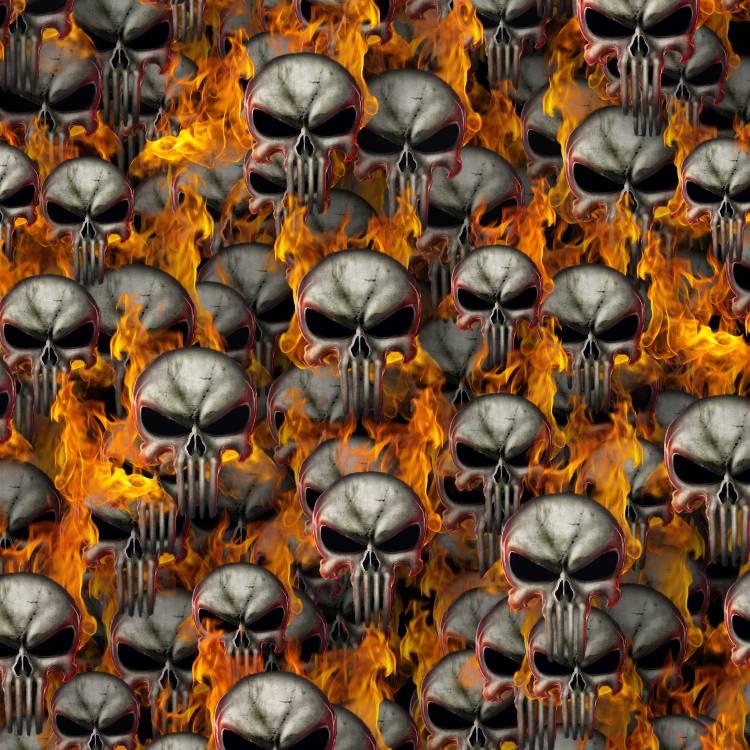 Punisher Skulls Fire