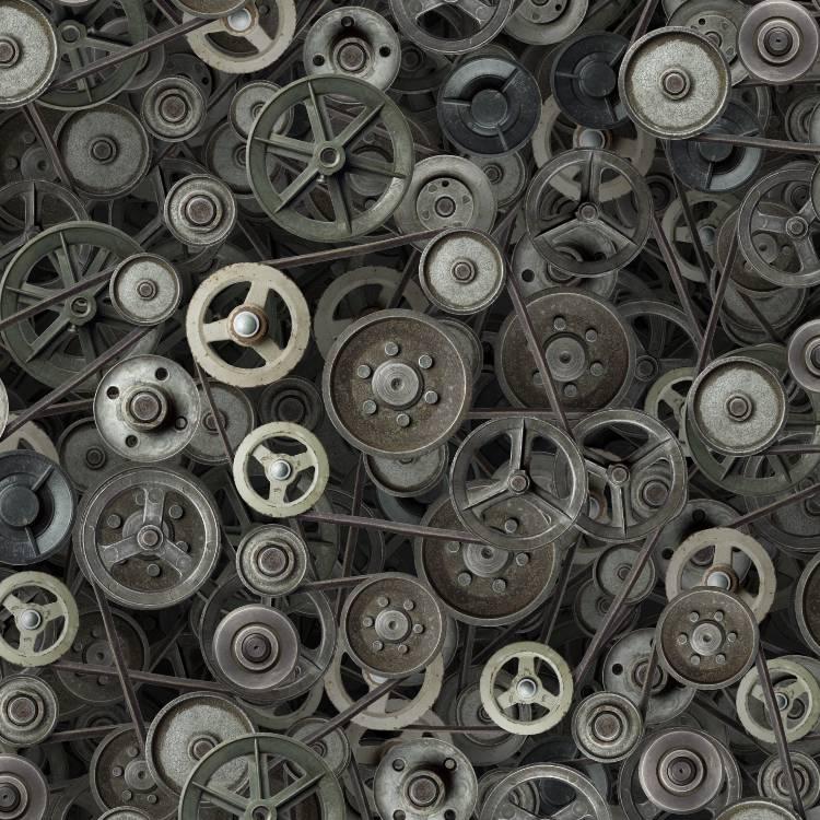 Steampunk Gears Pulleyes 41