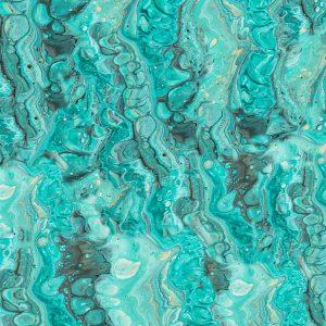 Turquoise Paint Swirl