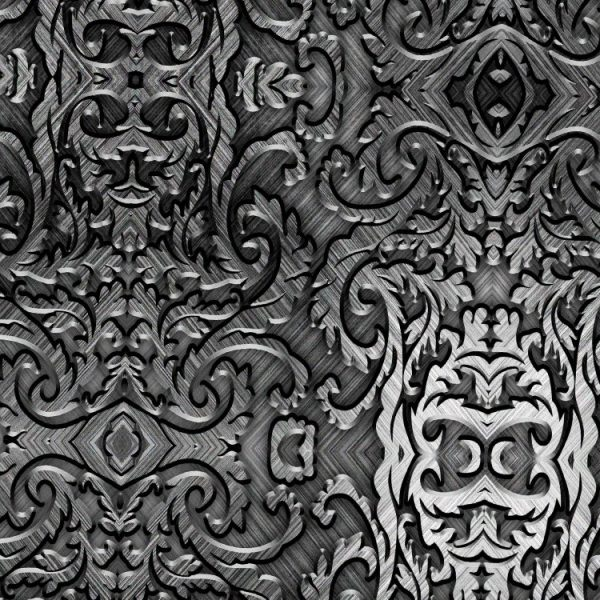 Brushed Steel Scrollwork