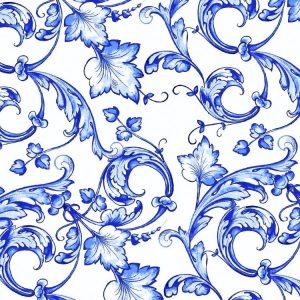Flow Blue Acanthus 22