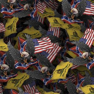 Confederate Eagle with Flags