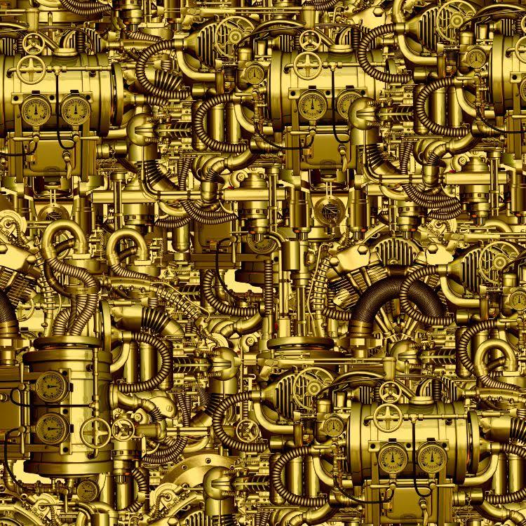 SteamPunk Mechanical Contrivance Brass 22