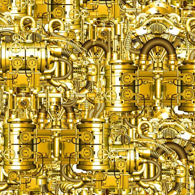 SteamPunk Mechanical Contrivance Brass 23