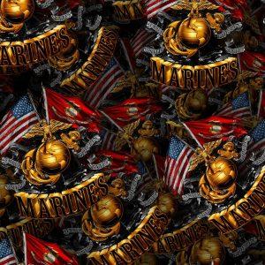 Marine Crossed Flags 22