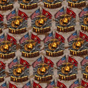 Marine Crossed Flags 25