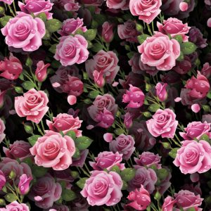 Wet Pink Roses